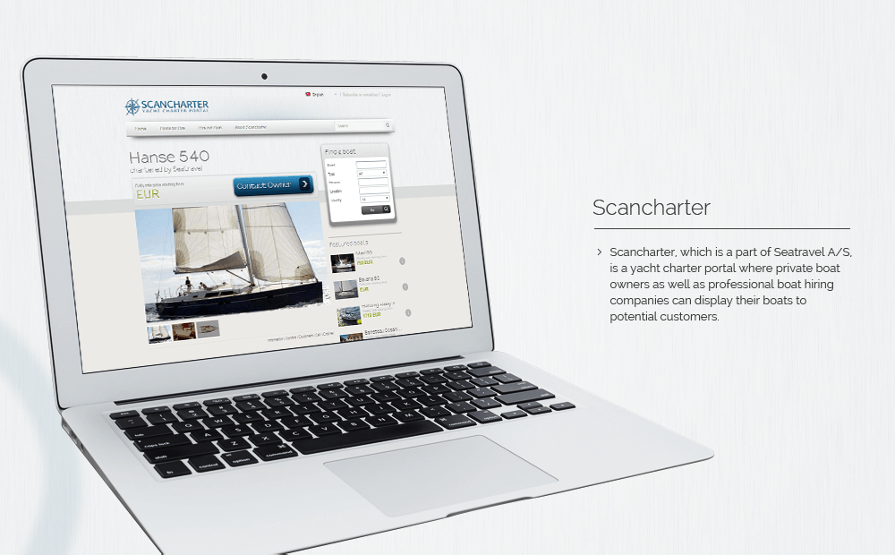 Scancharter website image 3