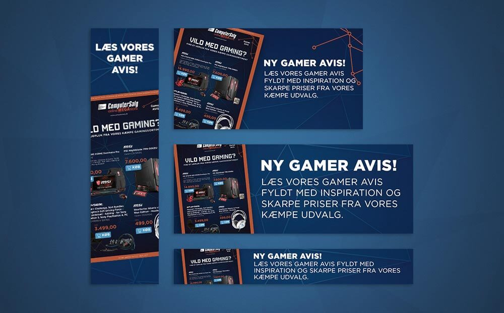 Computersalg banner gamer catalog